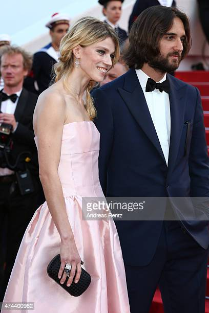 """Model Masha Novoselova and Producer Dimitri Rassam attend the Premiere of """"The Little Prince"""" during the 68th annual Cannes Film Festival on May 22,..."""