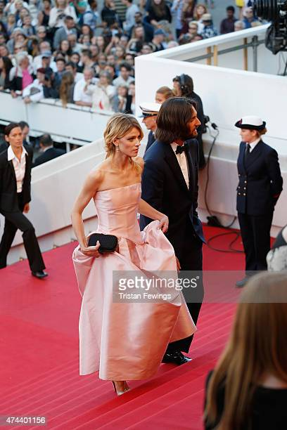 """Model Masha Rassam and Producer Dimitri Rassam attend the Premiere of """"The Little Prince"""" during the 68th annual Cannes Film Festival on May 22, 2015..."""