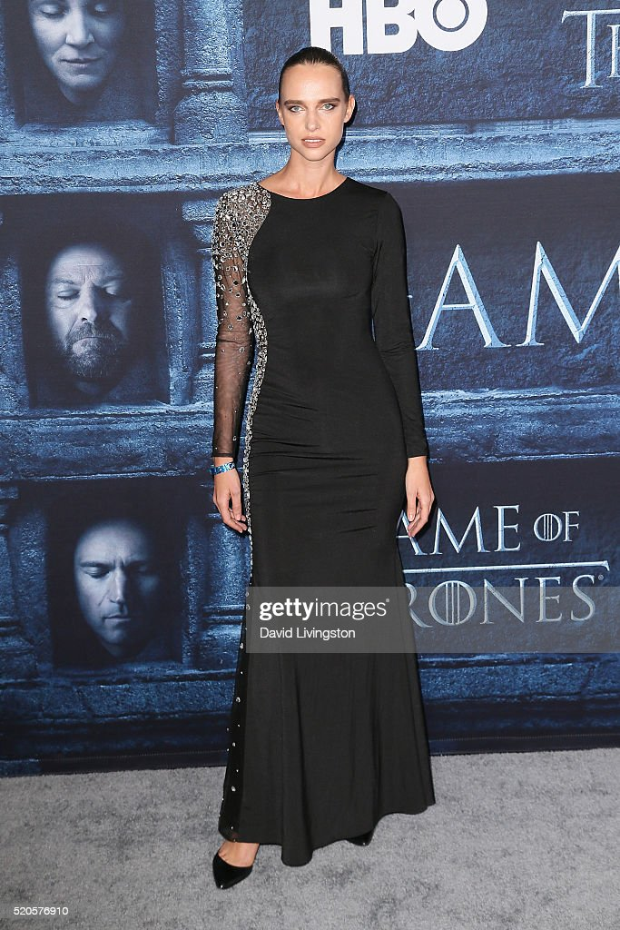 Model Masha Rudenko arrives at the premiere of HBO's 'Game of Thrones' Season 6 at the TCL Chinese Theatre on April 10, 2016 in Hollywood, California.