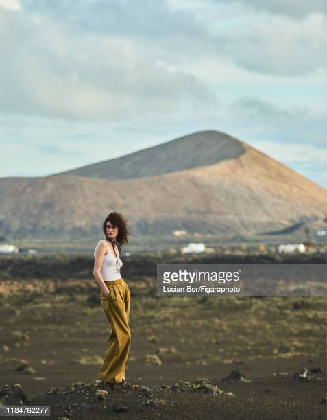 Model Maud Le Fort is photographed for Madame Figaro on November 30 2017 in Lanzarote Spain Tank top pants PUBLISHED IMAGE CREDIT MUST READ Lucian...