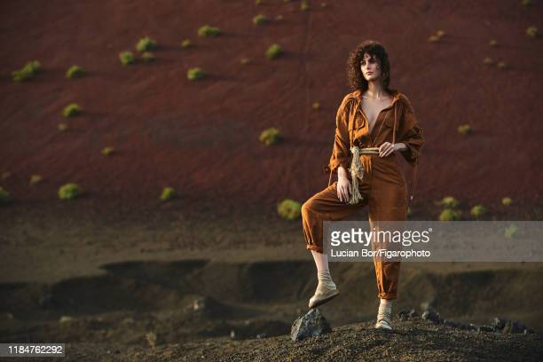 Model Maud Le Fort is photographed for Madame Figaro on November 30, 2017 in Lanzarote, Spain. Jumpsuit , socks , sandals . CREDIT MUST READ: Lucian...