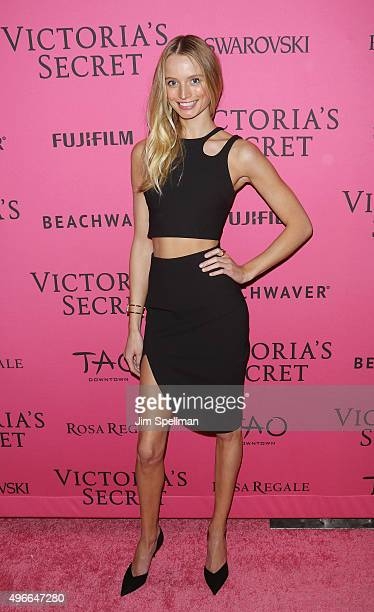 Model Maud Welzen attends the 2015 Victoria's Secret Fashion Show after party at TAO Downtown on November 10 2015 in New York City