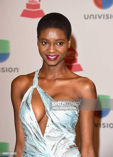 Model Mauza Antonio attends the 15th Annual Latin GRAMMY Awards at the MGM Grand Garden Arena on November 20 2014 in Las Vegas Nevada