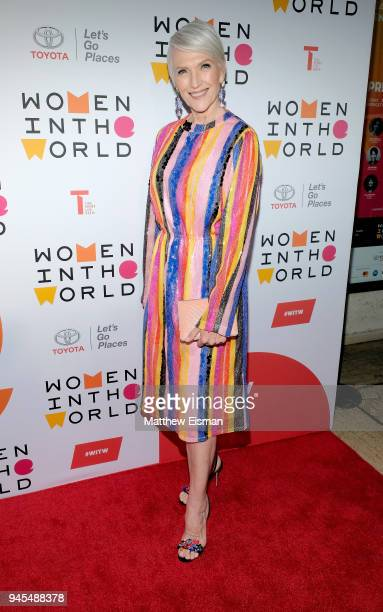 Model Maye Musk attends the 2018 Women In The World Summit at Lincoln Center on April 12 2018 in New York City