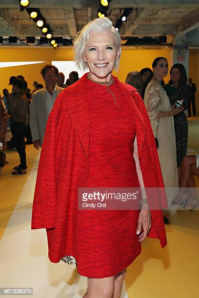 Model Maye Musk attends the AKRIS fashion show during New York Fashion Week at Lever House on September 9 2016 in New York City