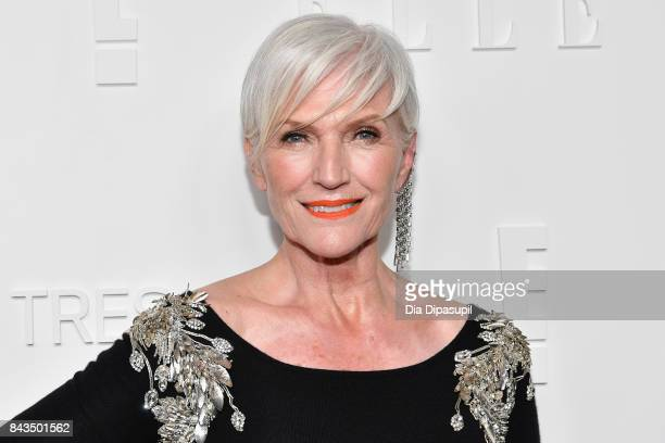 Model Maye Musk attends the NYFW Kickoff Party A Celebration Of Personal Style hosted by E ELLE IMG and sponsored by TRESEMME on September 6 2017 in...