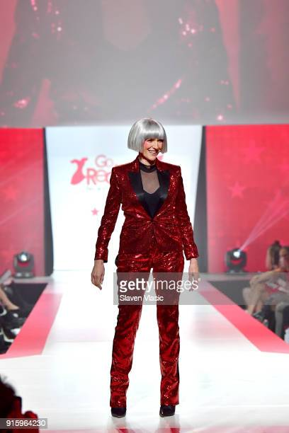 Model Maye Musk on stage at the American Heart Association's Go Red For Women Red Dress Collection 2018 presented by Macy's at Hammerstein Ballroom...