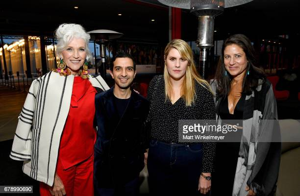 Model Maye Musk The Business of Fashion founder and editorinchief Imran Amed Designer Kate Mulleavy and LACMA's Katherine Ross attend an intimate...