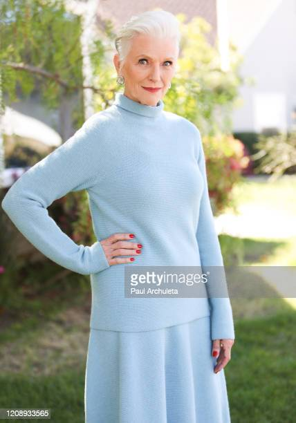 Model Maye Musk visits Hallmark Channel's Home Family at Universal Studios Hollywood on February 26 2020 in Universal City California