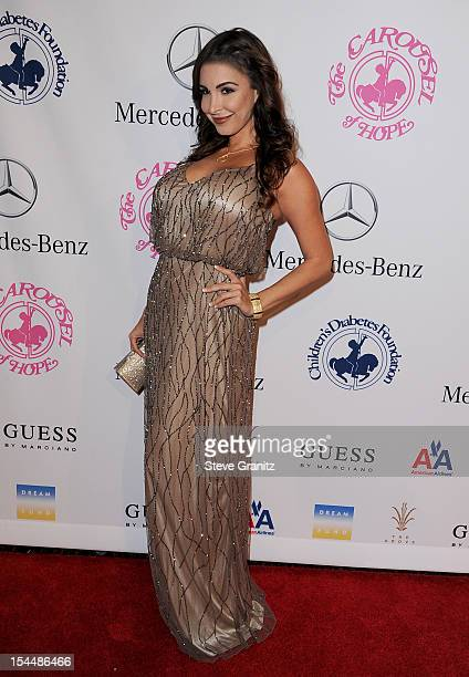 Model Mayra Veronica arrives at the 26th Anniversary Carousel Of Hope Ball presented by MercedesBenz at The Beverly Hilton Hotel on October 20 2012...
