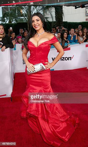 Model Mayra Veronica attends the 16th Latin GRAMMY Awards at the MGM Grand Garden Arena on November 19 2015 in Las Vegas Nevada