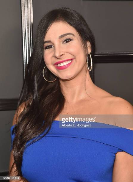 Model Mayra Veronica attends The 59th GRAMMY Awards at STAPLES Center on February 12 2017 in Los Angeles California