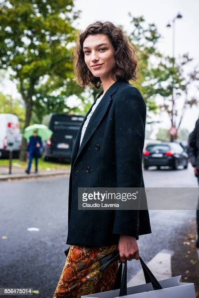 Model McKenna Hellam is seen after the Celine show during Paris Fashion Week Womenswear SS18 on October 1 2017 in Paris France