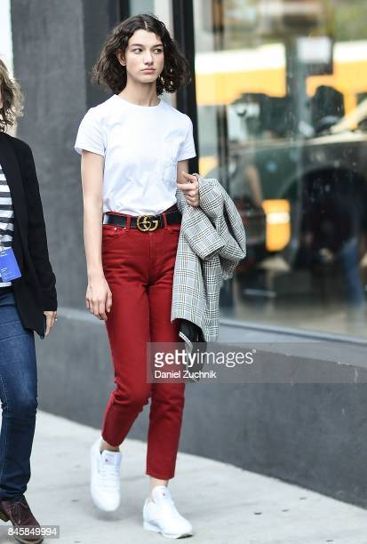Model Mckenna Hellam is seen outside the 31 Phillip Lim show show during New York Fashion Week Women's S/S 2018 on September 11 2017 in New York City