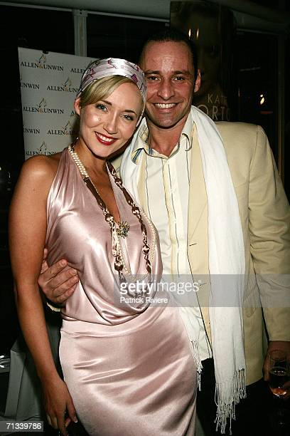 Model media personality Bessie Bardot and her husband Geoff Barker attend Kate Morton's The Shifting Fog book launch at the Australian Maritime...