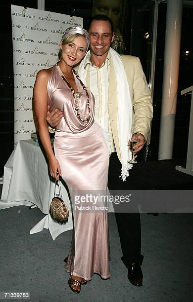 Model media personality Bessie Bardot with her husband Geoff Barker attend Kate Morton's The Shifting Fog book launch at the Australian Maritime...