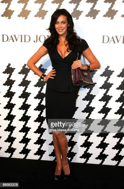 Model Megan Gale arrives at the David Jones Spring/Summer 2009 Collection Launch themed 'A Great Southern Summer 2009' at the Hordern Pavilion Moore...
