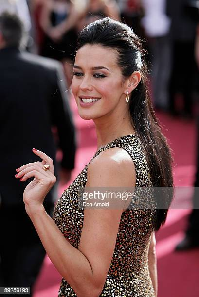 Model Megan Gale arrives on the red carpet at the 2007 ARIA Awards at Acer Arena on October 28 2007 in Sydney Australia The 21st annual Australian...