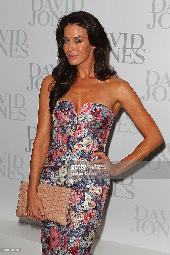 Model Megan Gale attends the David Jones S/S 2012/13 Season Launch at David Jones Castlereagh Street on August 14, 2012 in Sydney, Australia.
