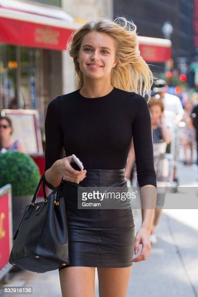 Model Megan Irminger attends casting for the 2017 Victoria's Secret Fashion Show in Midtown on August 16 2017 in New York City