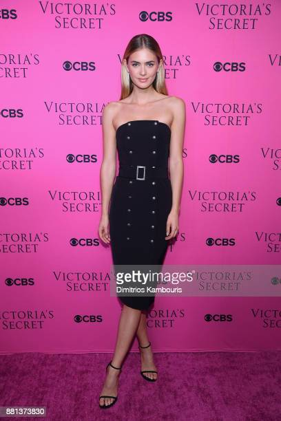 Model Megan Williams attends as Victoria's Secret Angels gather for an intimate viewing party of the 2017 Victoria's Secret Fashion Show at Spring...