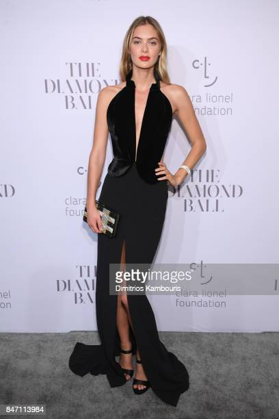 Model Megan Williams attends Rihanna's 3rd Annual Diamond Ball Benefitting The Clara Lionel Foundation at Cipriani Wall Street on September 14 2017...