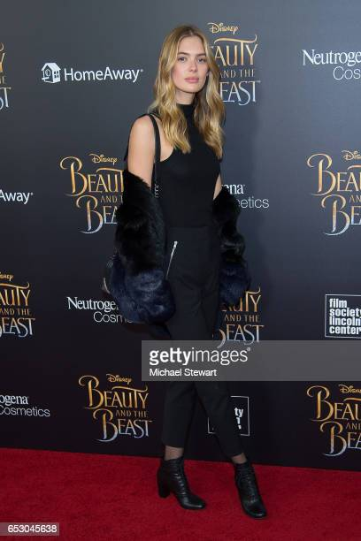 Model Megan Williams attends the 'Beauty And The Beast' New York screening at Alice Tully Hall at Lincoln Center on March 13 2017 in New York City