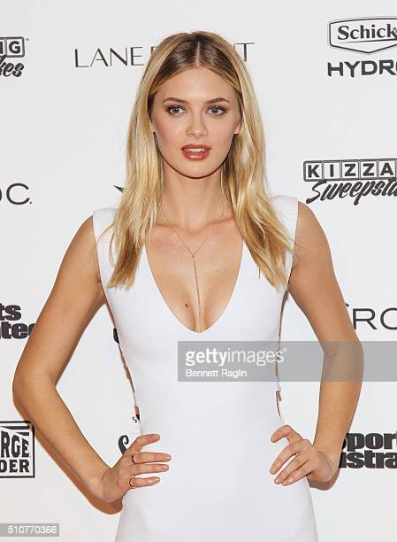 Model Megan Williams attends the Sports Illustrated Celebrates Swimsuit 2016 at Brookfield Place on February 16 2016 in New York City