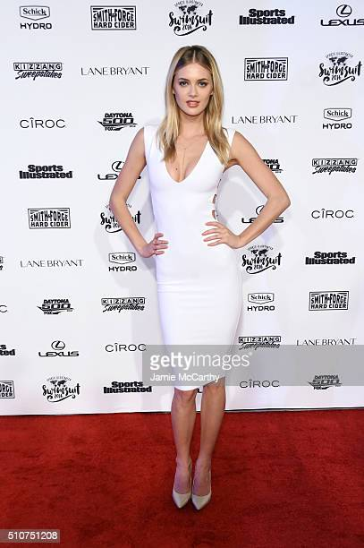 Model Megan Williams attends the Sports Illustrated Swimsuit 2016 NYC VIP press event on February 16 2016 in New York City