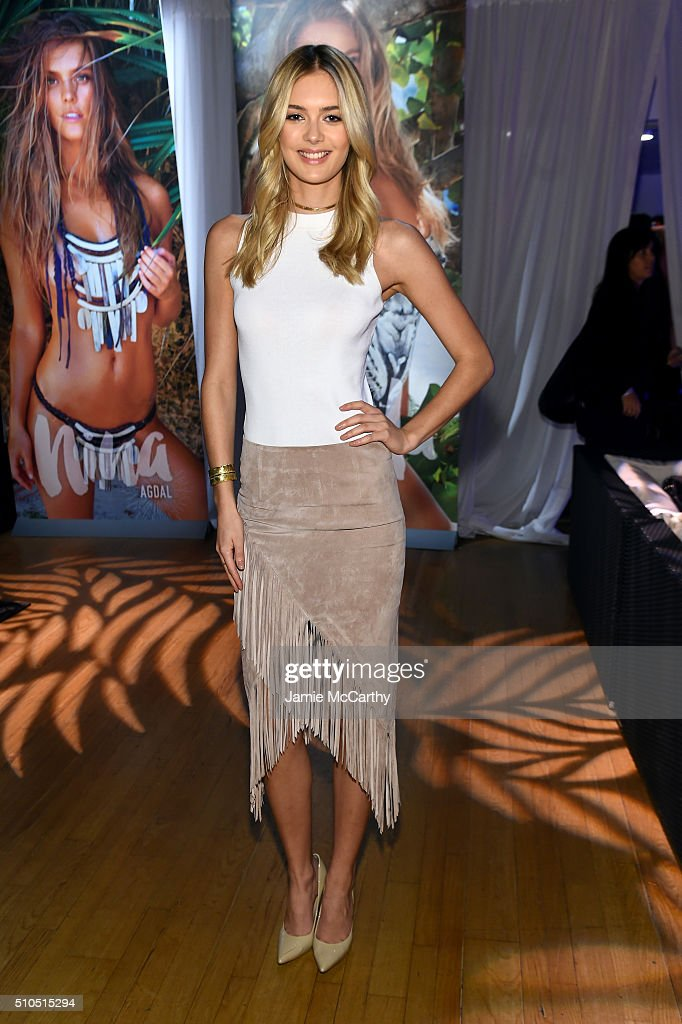 Model Megan Williams poses at the Sports Illustrated Swimsuit 2016 - Swim City at the Altman Building on February 15, 2016 in New York City.