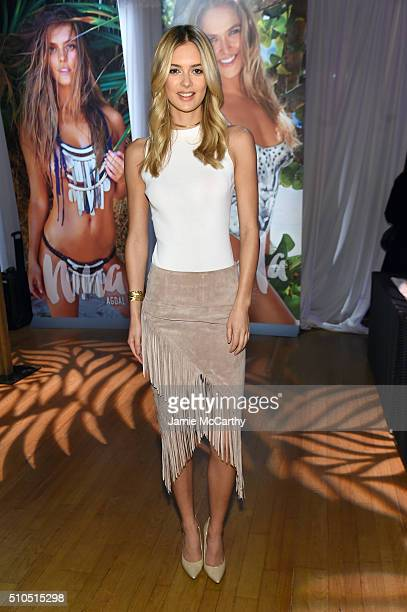 Model Megan Williams poses at the Sports Illustrated Swimsuit 2016 Swim City at the Altman Building on February 15 2016 in New York City