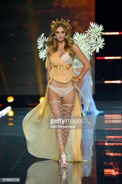 Model Megan Williams walks the runway during the 2017 Victoria's Secret Fashion Show In Shanghai at MercedesBenz Arena on November 20 2017 in...
