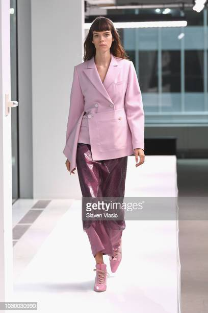 Model Meghan Collison walks the runway for the Sies Marjan show during New York Fashion Week on September 9 2018 in New York City