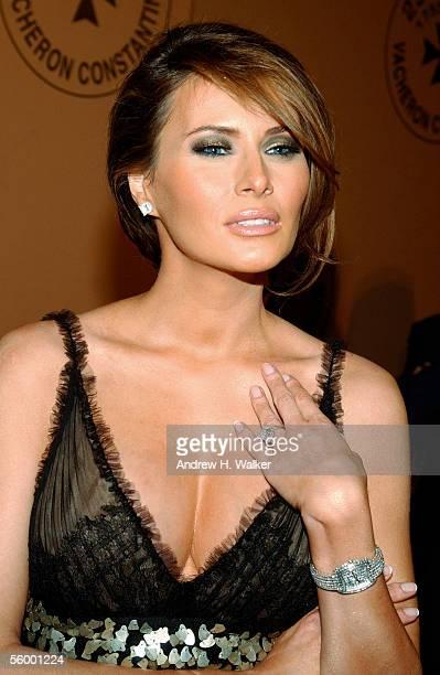 Model Melania Trump attends the 250th Anniversary Celebration of luxury watch brand Vacheron Constantin on October 24 2005 in New York City Melania...