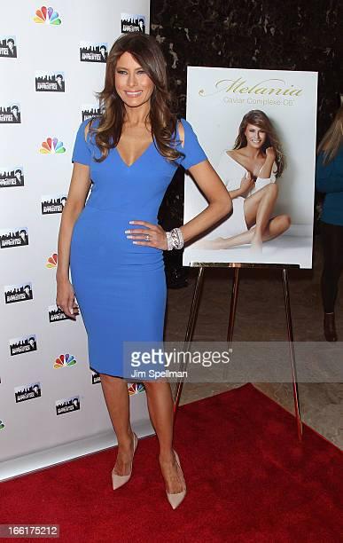 Model Melania Trump attends the Celebrity Apprentice AllStar event at Trump Tower on April 9 2013 in New York City