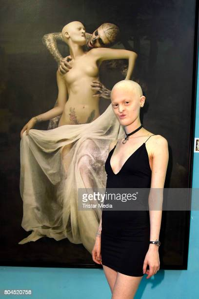 Model Melanie Gaydos attends the Vernissage 'Old Masters' on June 30 2017 in Berlin Germany