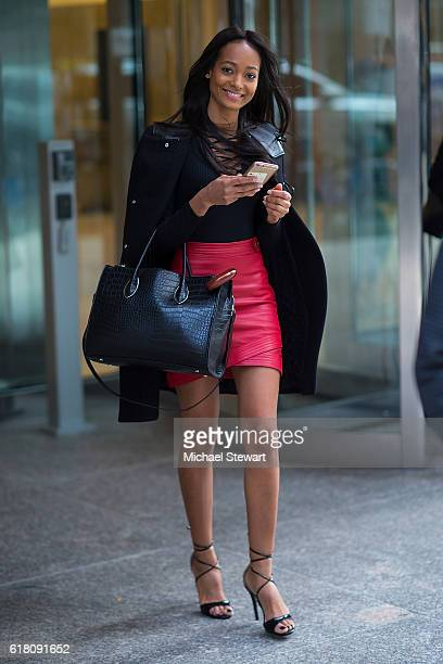 Model Melie Tiacoh attends the 2016 Victoria's Secret Fashion Show call backs on October 25 2016 in New York City