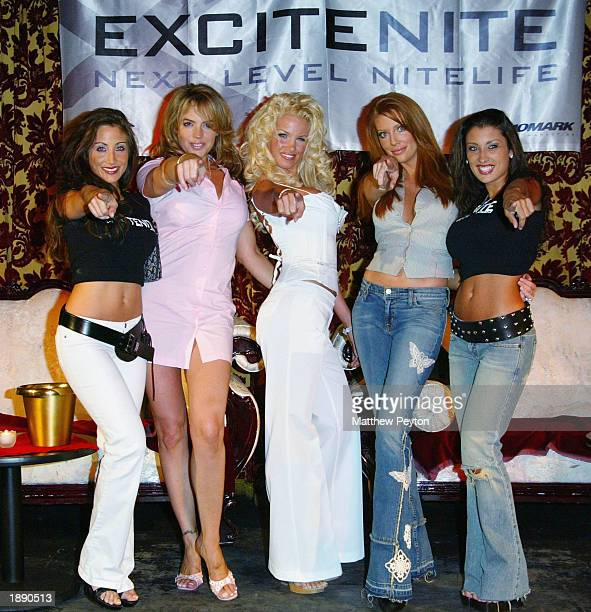 Model Melina Fasciana actress Sanda Taylor Miss March Tina Jordan actress Angelica Bridges and model Jessica Canizales appear at the the launch of...