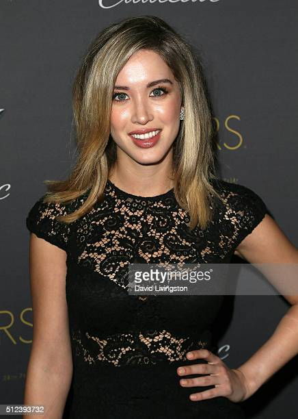 Model Melissa Bolona attends Cadillac's PreOscar Event at Chateau Marmont on February 25 2016 in Los Angeles California