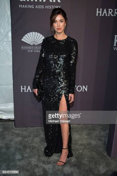 Model Melissa Bolona attends the 19th Annual amfAR New York Gala at Cipriani Wall Street on February 8 2017 in New York City
