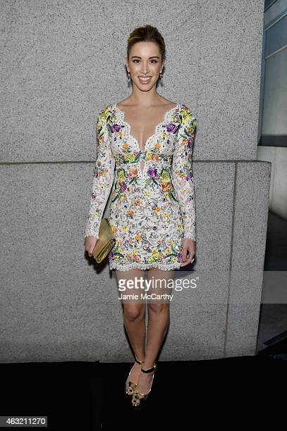 Model Melissa Bolona attends the 2015 amfAR New York Gala at Cipriani Wall Street on February 11 2015 in New York City