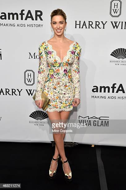 Model Melissa Bolona attends the 2015 amfAR New York Gala at Cipriani Wall Street on February 11, 2015 in New York City.