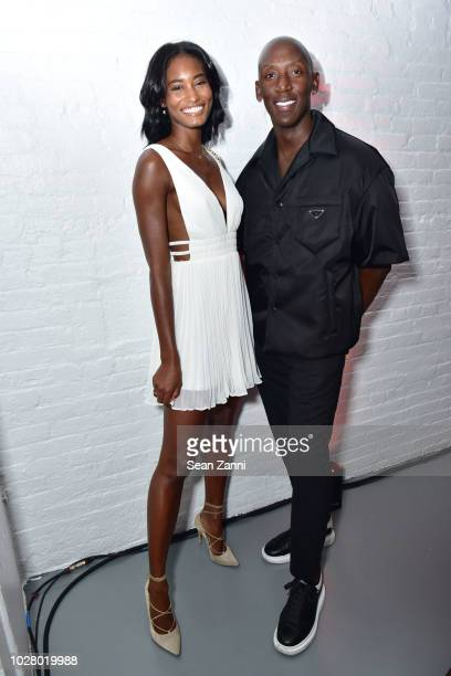 Model Melodie Monrose and Mateo Harris visit the Shopbop Diner on September 6 2018 in New York City