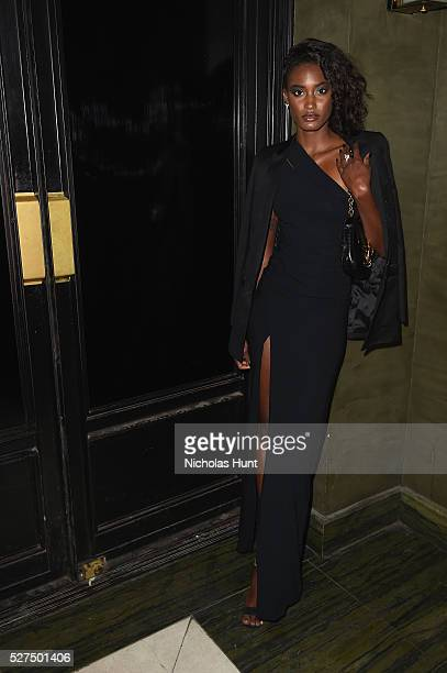 Model Melodie Monrose attends the Balmain and Olivier Rousteing after the Met Gala Celebration on May 02 2016 in New York New York