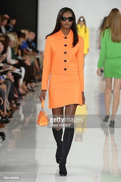 Model Melodie Monrose walks the runway at the Ralph Lauren Ready to Wear fashion show during MercedesBenz Fashion Week Spring Summer 2014 on...