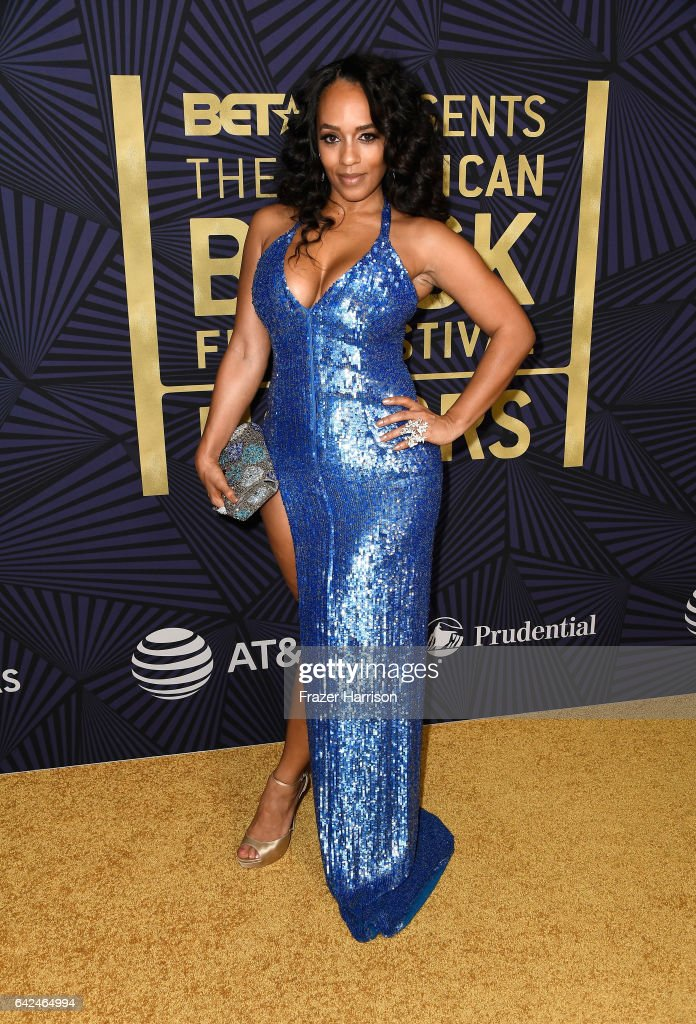 Model Melyssa Ford attends BET Presents the American Black Film Festival Honors on February 17, 2017 in Beverly Hills, California.