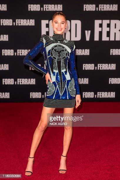 Model Meredith Mickelson arrives for the premiere of 20th Century Fox's Ford v Ferrari November 4 2019 at the TCL Chinese Theatre in Hollywood