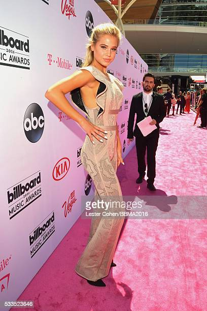 Model Meredith Mickelson attends the 2016 Billboard Music Awards at TMobile Arena on May 22 2016 in Las Vegas Nevada