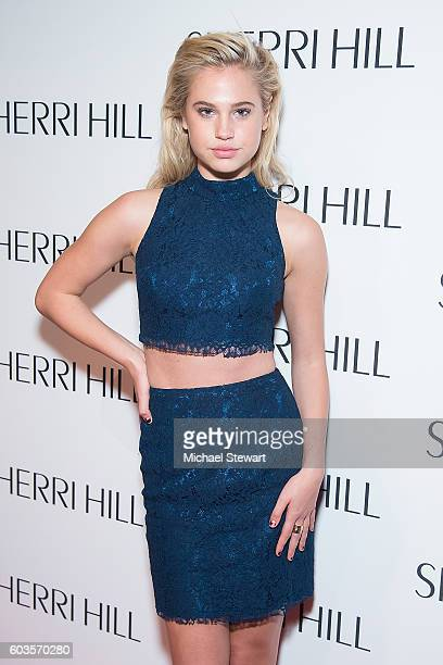 Model Meredith Mickelson attends the Sherri Hill fashion show during September 2016 New York Fashion Week The Shows at Gotham Hall on September 12...