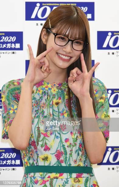 Model Meru Nukumi attends the 33rd 'Japan Best Dressed Eyes Awards' Photocall at Tokyo Big Sight on October 27, 2020 in Tokyo, Japan.